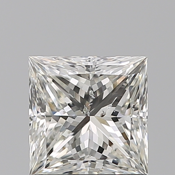 0.97 Carat Princess Loose Diamond, I, SI2, Ideal, GIA Certified | Thumbnail