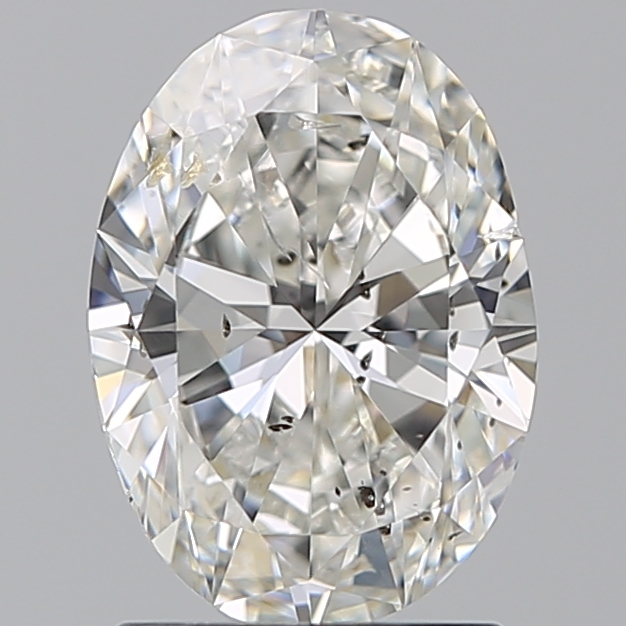 1.50 Carat Oval Loose Diamond, H, SI2, Excellent, GIA Certified