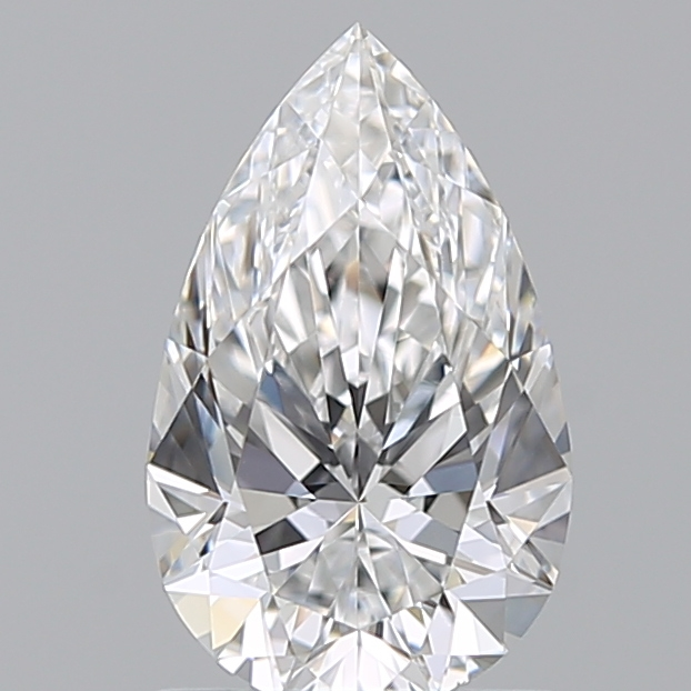 1.00 Carat Pear Loose Diamond, D, VVS2, Super Ideal, GIA Certified
