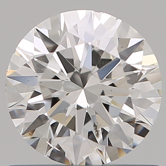 0.70 Carat Round Loose Diamond, F, SI2, Super Ideal, GIA Certified