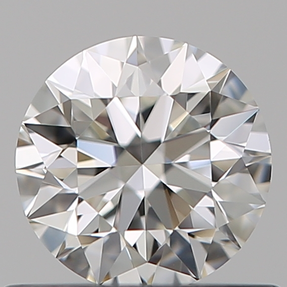 0.51 Carat Round Loose Diamond, H, VVS1, Super Ideal, GIA Certified
