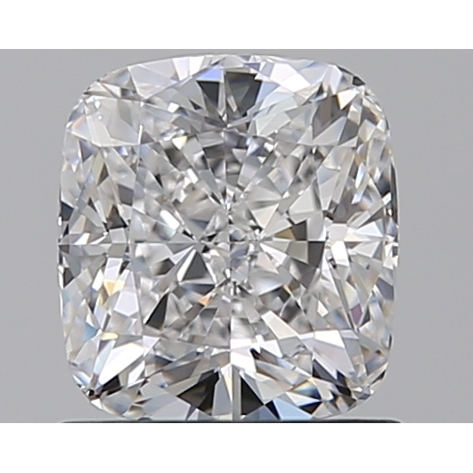 1.00 Carat Cushion Loose Diamond, D, VVS2, Excellent, GIA Certified