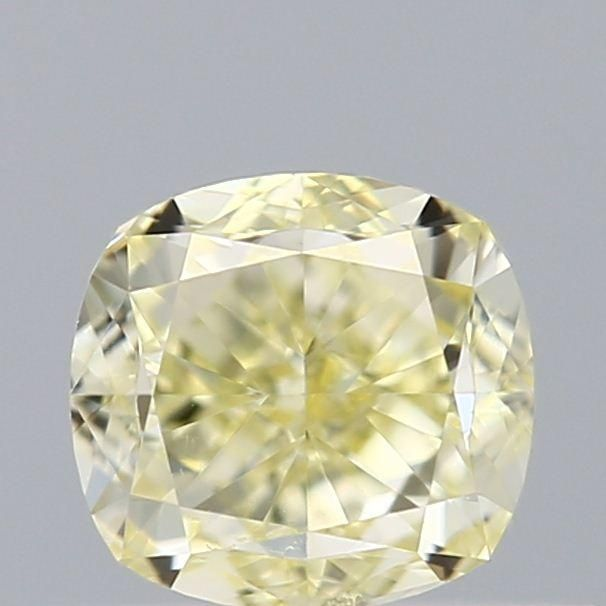 0.50 Carat Cushion Loose Diamond, Yellow Yellow, VS1, Excellent, GIA Certified