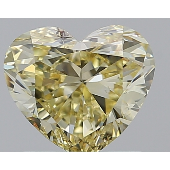 1.01 Carat Heart Loose Diamond, FANCY, SI2, Excellent, GIA Certified