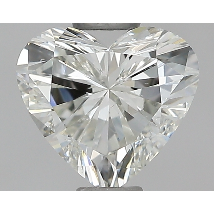 0.50 Carat Heart Loose Diamond, J, SI1, Excellent, GIA Certified