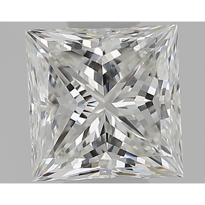 0.52 Carat Princess Loose Diamond, H, VVS2, Ideal, GIA Certified
