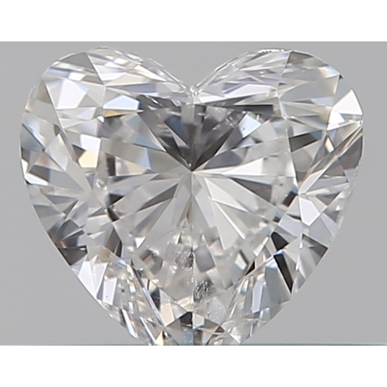 0.31 Carat Heart Loose Diamond, F, SI1, Excellent, GIA Certified