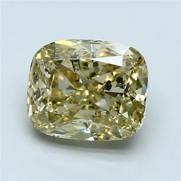 3.74 Carat Cushion Loose Diamond, FBGY FBGY, I1, Excellent, GIA Certified