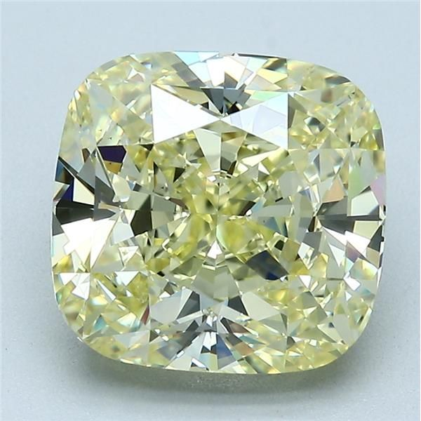 5.51 Carat Cushion Loose Diamond, FY FY, VS1, Ideal, GIA Certified