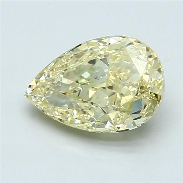 1.58 Carat Pear Loose Diamond, FY FY, SI1, Ideal, GIA Certified