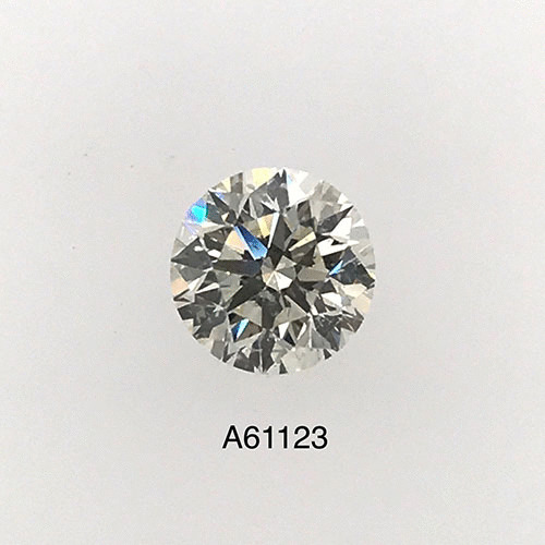 0.81 Carat Round Loose Diamond, L, SI2, Excellent, GIA Certified