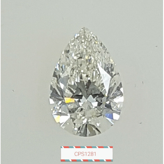 1.00 Carat Pear Loose Diamond, J, SI2, Ideal, GIA Certified