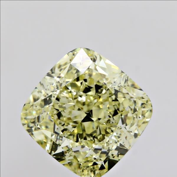 2.12 Carat Cushion Loose Diamond, Fancy Yellow, VVS2, Ideal, GIA Certified | Thumbnail