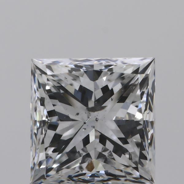 0.90 Carat Princess Loose Diamond, E, SI2, Good, GIA Certified | Thumbnail