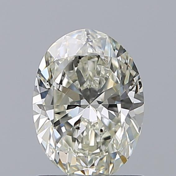 1.00 Carat Oval Loose Diamond, K, SI2, Ideal, GIA Certified
