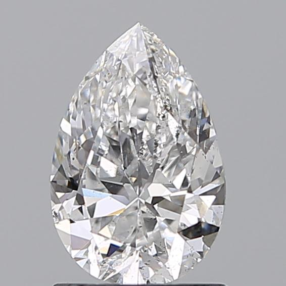 1.00 Carat Pear Loose Diamond, D, SI2, Ideal, GIA Certified