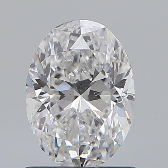 0.90 Carat Oval Loose Diamond, D, SI1, Very Good, GIA Certified