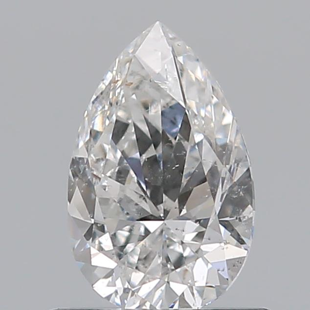 0.59 Carat Pear Loose Diamond, F, SI2, Excellent, GIA Certified | Thumbnail