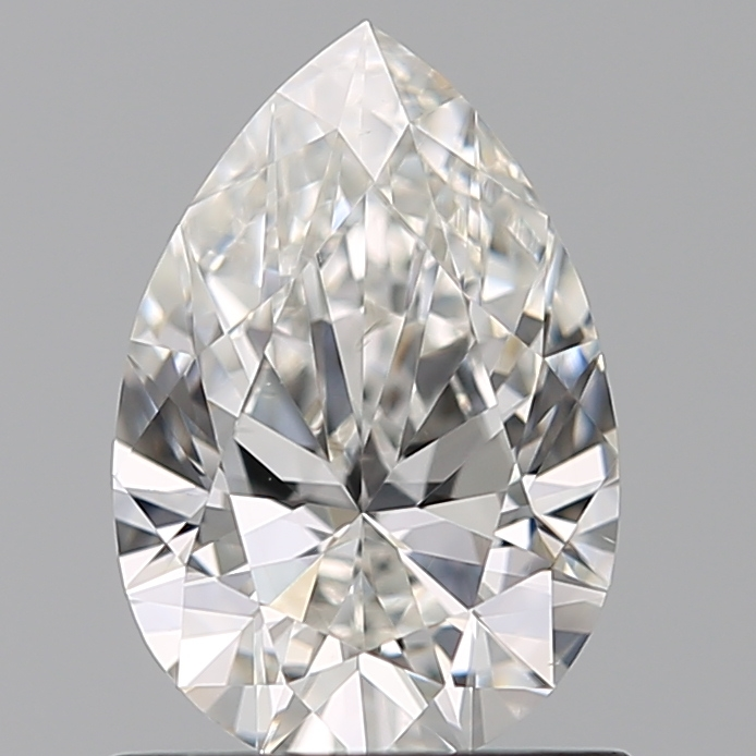 0.77 Carat Pear Loose Diamond, F, VS1, Super Ideal, GIA Certified | Thumbnail