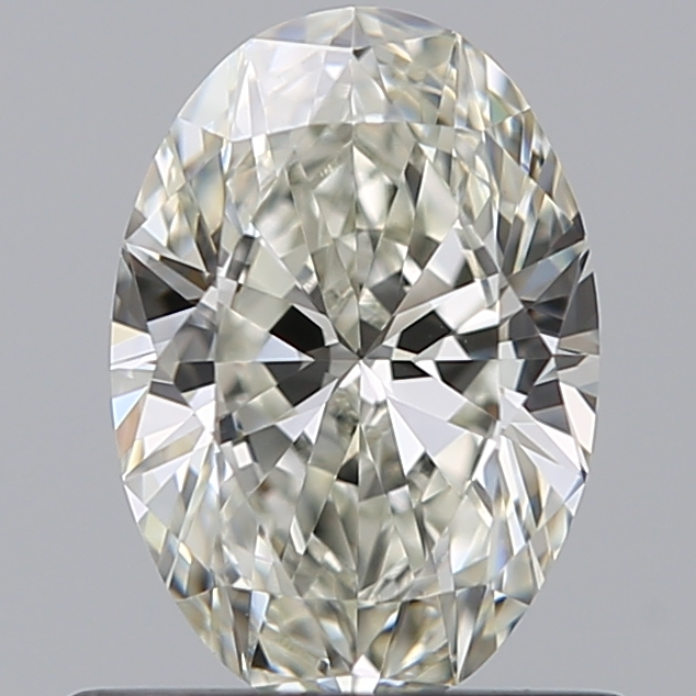 0.60 Carat Oval Loose Diamond, J, VS2, Super Ideal, GIA Certified