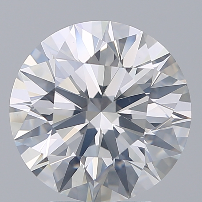 3.34 Carat Round Loose Diamond, F, SI2, Super Ideal, GIA Certified