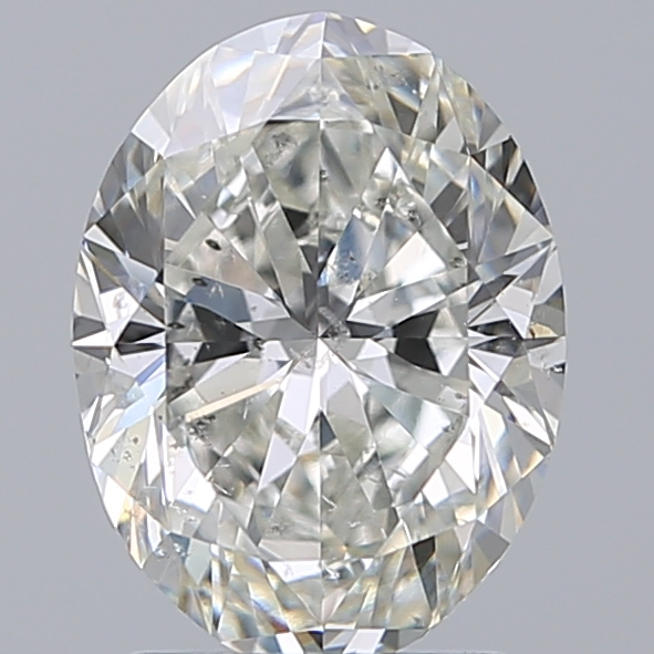 2.00 Carat Oval Loose Diamond, H, SI2, Super Ideal, GIA Certified