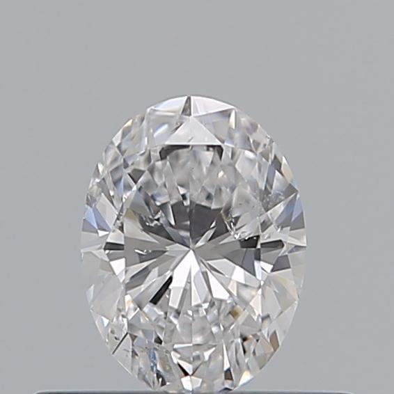 0.30 Carat Oval Loose Diamond, D, SI2, Super Ideal, GIA Certified
