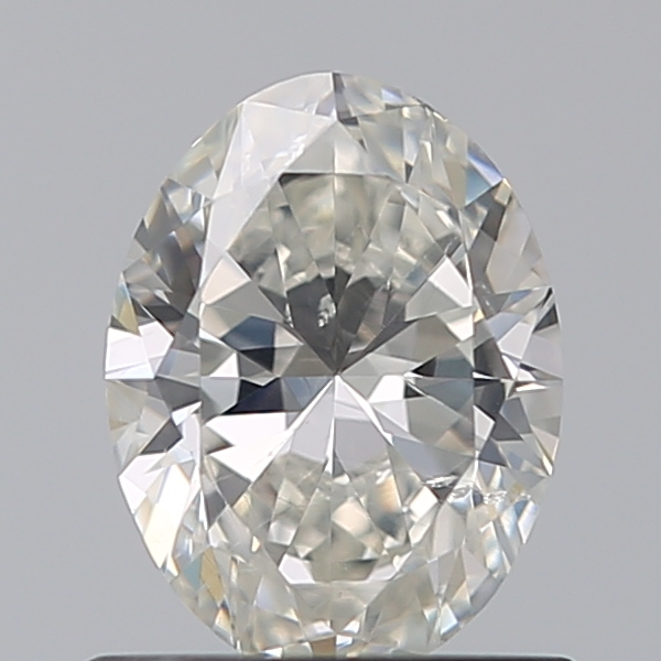 0.70 Carat Oval Loose Diamond, I, SI1, Super Ideal, GIA Certified | Thumbnail