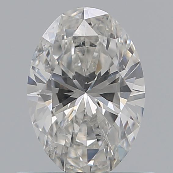 0.53 Carat Oval Loose Diamond, G, SI2, Ideal, GIA Certified