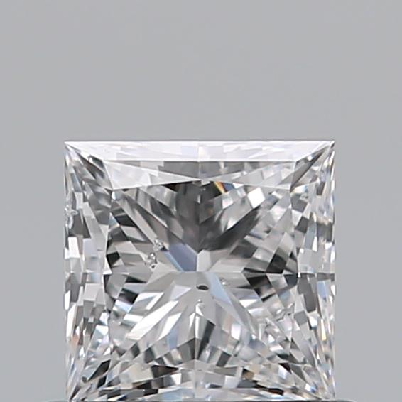0.54 Carat Princess Loose Diamond, D, SI2, Super Ideal, GIA Certified