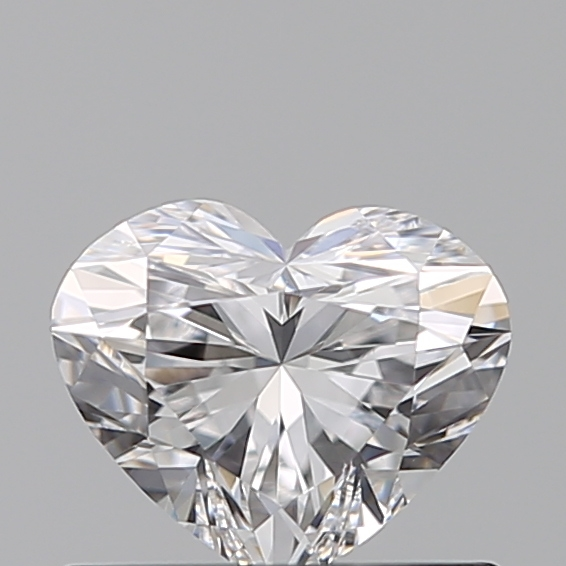 0.50 Carat Heart Loose Diamond, D, VVS1, Super Ideal, GIA Certified