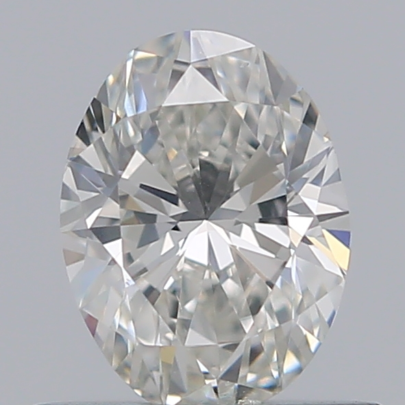 0.50 Carat Oval Loose Diamond, H, SI1, Ideal, GIA Certified