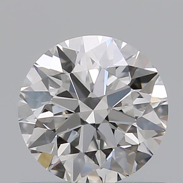 0.59 Carat Round Loose Diamond, F, VS2, Super Ideal, GIA Certified