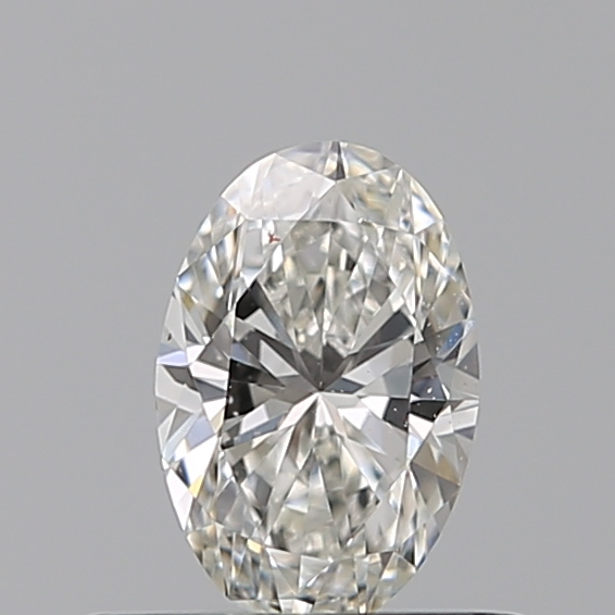 0.38 Carat Oval Loose Diamond, H, VVS2, Excellent, GIA Certified