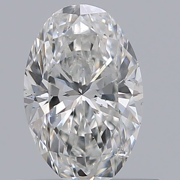 0.50 Carat Oval Loose Diamond, G, SI2, Super Ideal, GIA Certified