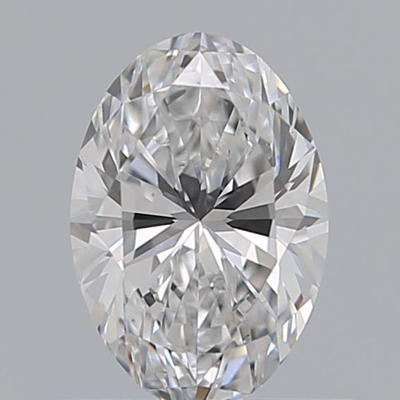 0.52 Carat Oval Loose Diamond, D, VVS2, Super Ideal, GIA Certified