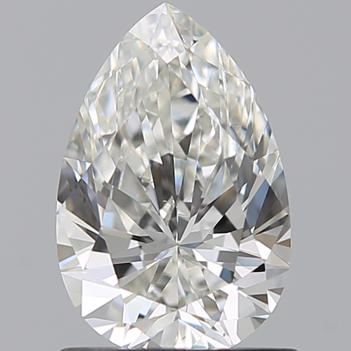 0.80 Carat Pear Loose Diamond, H, VS1, Super Ideal, GIA Certified