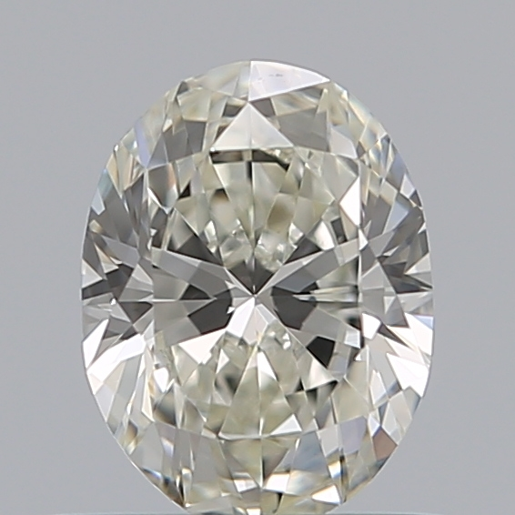 0.50 Carat Oval Loose Diamond, J, VS1, Ideal, GIA Certified