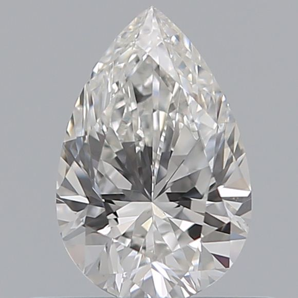 0.50 Carat Pear Loose Diamond, F, VS2, Excellent, GIA Certified