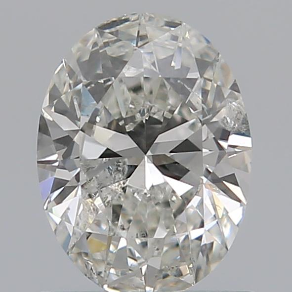 0.72 Carat Oval Loose Diamond, H, I1, Ideal, GIA Certified