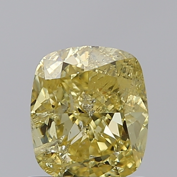 1.14 Carat Cushion Loose Diamond, FANCY, I2, Ideal, GIA Certified | Thumbnail