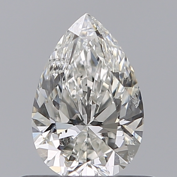 0.50 Carat Pear Loose Diamond, H, SI2, Super Ideal, GIA Certified