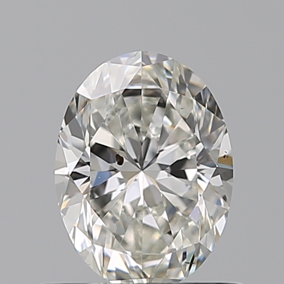 0.54 Carat Oval Loose Diamond, H, SI2, Ideal, GIA Certified