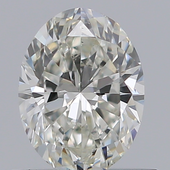 0.50 Carat Oval Loose Diamond, I, VS2, Super Ideal, GIA Certified