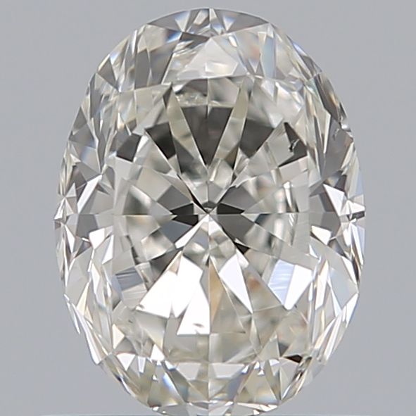 0.90 Carat Oval Loose Diamond, I, SI1, Excellent, GIA Certified