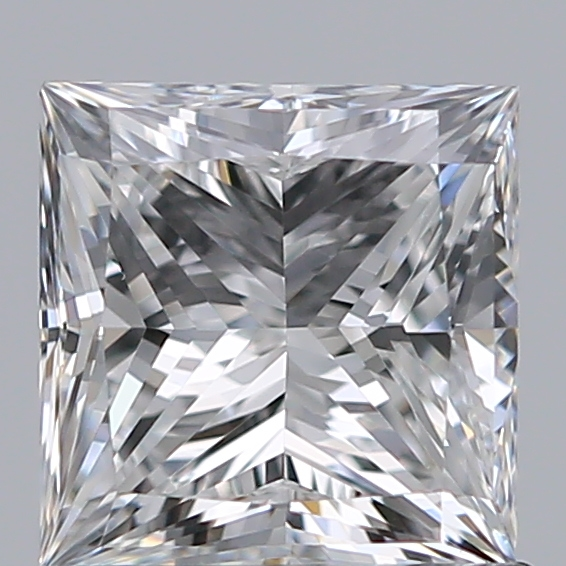 0.90 Carat Princess Loose Diamond, E, VVS2, Super Ideal, GIA Certified