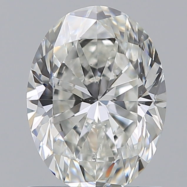 0.90 Carat Oval Loose Diamond, H, SI1, Super Ideal, GIA Certified | Thumbnail