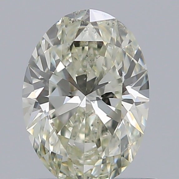 0.53 Carat Oval Loose Diamond, L, SI1, Excellent, GIA Certified