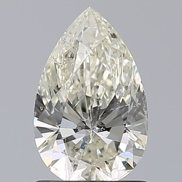 1.00 Carat Pear Loose Diamond, L, SI2, Ideal, GIA Certified