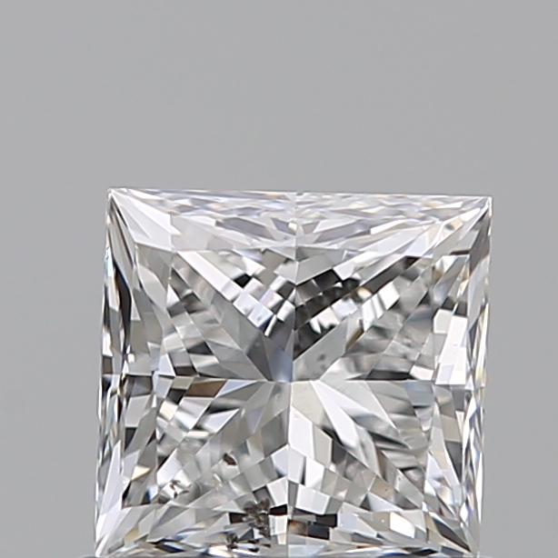 0.70 Carat Princess Loose Diamond, F, SI2, Excellent, GIA Certified